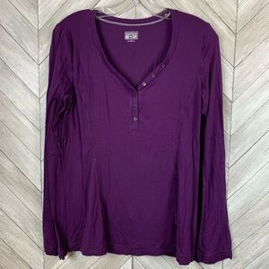 Converse one star purple long sleeve top. Size L